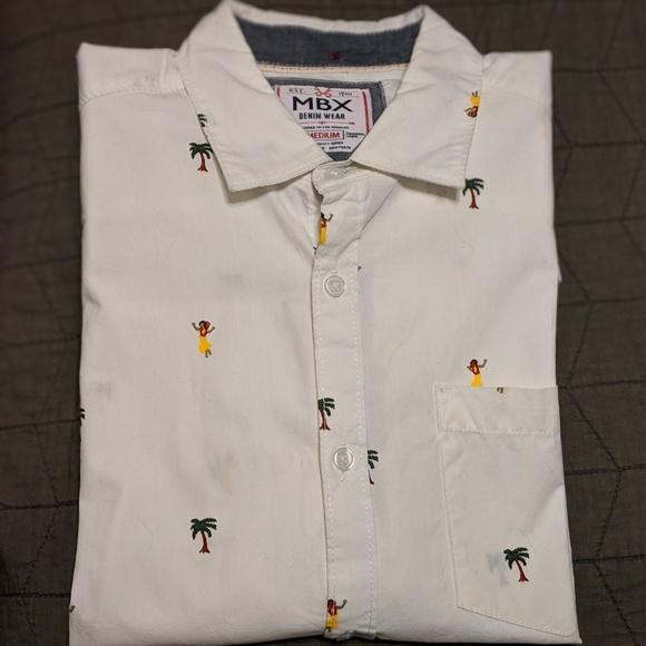 00101aa6 MBX Denim Wear Shirts | Hawaiian Shirt Long Sleeve | Poshmark